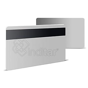 100 x Tarjetas de banda magnética plásticas PVC blancas HI ...