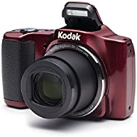 Kodak PIXPRO Friendly Zoom FZ201 16 MP Digital Camera with 20X Optical Zoom and 3 LCD Screen (Red)