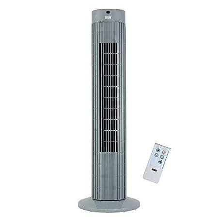 Ventilateur colonne à oscillations avec télécommande et 3 options de vitesse, 3 modes vent, avec long câble de 1,75 m, 36 pouces Noir (piles non incluses) 2 ans de Garantie