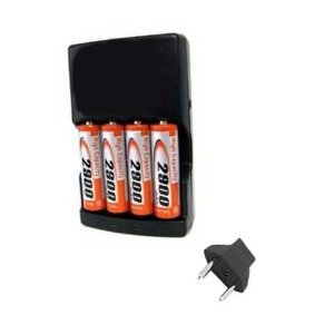 Battery Charger Replacement of 4 AA NiMH 2900mAh Recharge...
