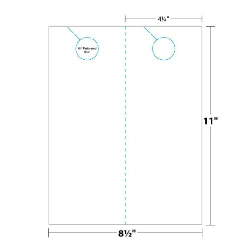 Digital Door Hanger - 4.25'' x 11'', 100 Door Hangers by Blanks/USA