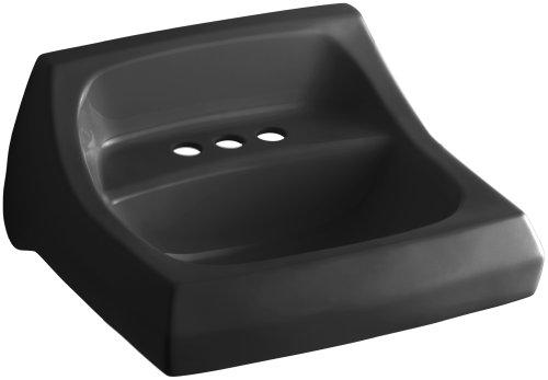 KOHLER K-2005-7 Kingston Wall-Mount Bathroom Sink, Black Black - Ada Compliant Wall Mount