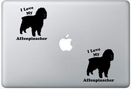 (I Love My Affenpinscher Decal PetsAffectionLaptop0231 Set of Two (2X), Dog Decal, Sticker, Laptop, Ipad, MacBook)
