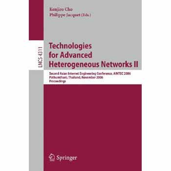 Price comparison product image Technologies for Advanced Heterogeneous Networks II: Second Asian Internet Engineering Conference,  AINTEC 2006,  Pathumthani,  Thailand,  November 28-30,  ... (Lecture Notes in Computer Science) (v. 2) [P
