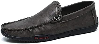 運転ファッションカジュアル男性ローファー高品質金属装飾アップリケリアル本革の靴男フラットシューズ丸いつま先シンプルな純粋な色