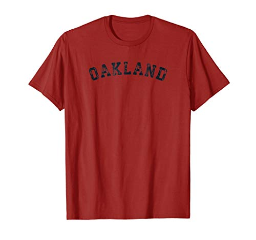 (Vintage Oakland T Shirt Scrum Old Retro Sports Gift Tee 80s)