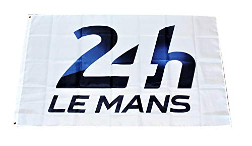 (Mountfly 24 Hours of Le Mans Banner Flag Formula One F1 Racing Team Motorsports Lemans 3X5 Feet Man Cave )