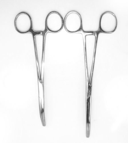 Cheap New 2pc Fishing Set 8″ + 10″ Curved Hemostat Forceps Locking Clamps Stainless