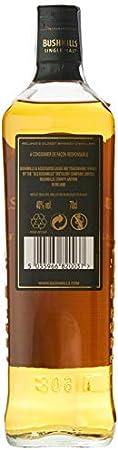Bushmills Single Malt Irish Whiskey 10 Years Old con paquete regalo, 700 ml