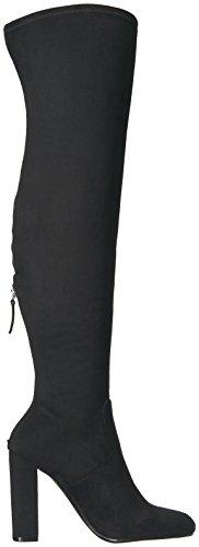 Stivale STEVE MADDEN nero alto con tacco ENVOKE con ricamo, nuova collezione autunno inverno 2017/2018 Black