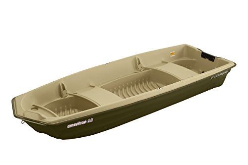 SUNDOLPHIN Sun Dolphin American 12 Jon Fishing Boat (Beige/Green, 12-Feet) (Boat 12 Ft Fishing)