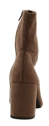 Speed Heel Ankle Leaf Imitation Suede Limit Deep 98 Boot Women's Taupe Low 0fB0wrqx