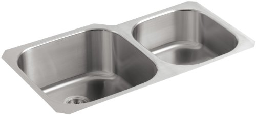 KOHLER K-3356-NA Undertone Extra-Large/Medium Undercounter Kitchen Sink, Stainless Steel
