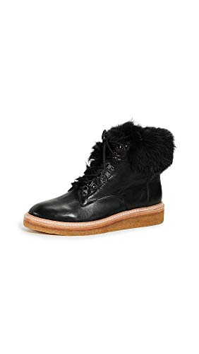 botkier Women's Winter Combat Boots, Black, 8.5 M US