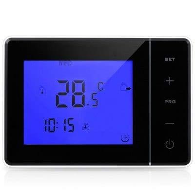 HaiMa Hy01Bw Lcd Pantalla Táctil Termostato Programable Para Calefacción Eléctrica/Pared Colgante Estufa 5A-Negro: Amazon.es: Bricolaje y herramientas