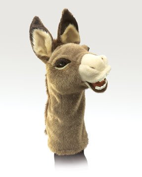 Stage Puppet Puppet Stage (Folkmanis Donkey Stage Puppet)
