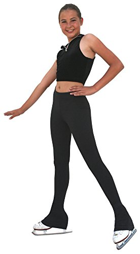 (Chloe Noel Figure Skating Polar Fleece Pants by Polartec P83 Black Child Medium )
