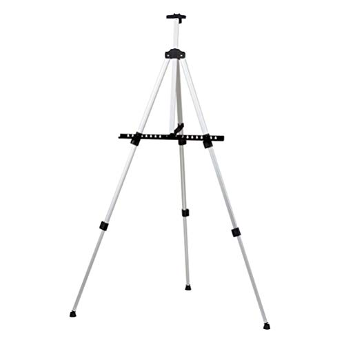 (lotus.flower Reinforced Artist Easel Stand, Extra Thick Aluminum Metal Tripod Display Easel 21
