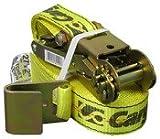Cargoloc 82292 2'' X 27'' Neon Yellow Ratchet Tie Down W/ Flat Hooks