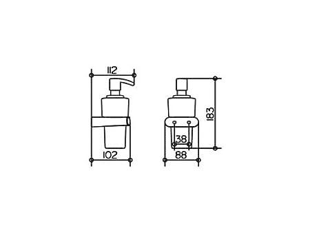Favorit Keuco 11653019000 Elegance New Schaumseifenspender, chrom: Amazon RZ88