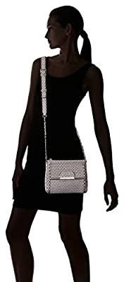 GUESS Ryann B/w Dot Mini Crossbody Top Zip