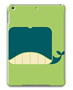 IMARTCASE Apple iPad Air Case, Flat Square Whale PC Hard Plastic Case for Apple iPad Air