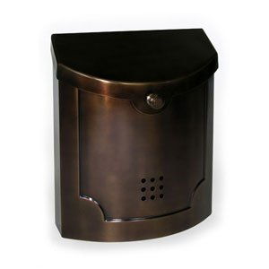 (Wall Mounted Mailbox Finish: Bronze Plated)