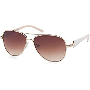 styleBREAKER Ladies pilots with tinted lenses, sunglasses with lacquered temples and rhinestone 09020053