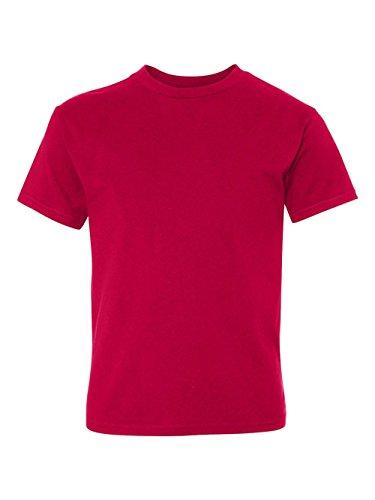 Hanes Youth 4.5 oz., 100% Ringspun Cotton nano-T T-Shirt, XS, DEEP RED Spot Youth T-shirt