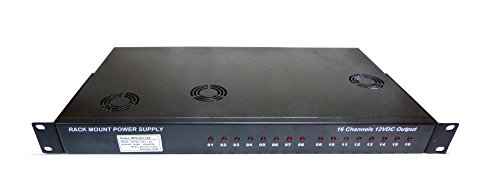 GENSSI 400W 16 Channel Rack Mount Power Supply CCTV 1.5U 12V by Genssi