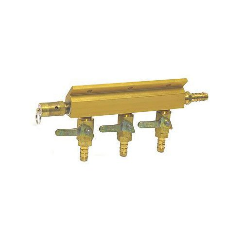 Taprite 1743S Aluminum Three-Way Air Distributor with Safety Release Valve