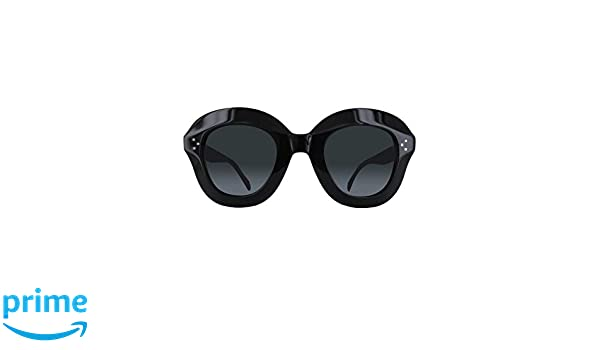 e42ee4beb6 Celine CL41445 S 807 Black Lola Round Sunglasses Lens Category 3 Size 46mm  at Amazon Men s Clothing store