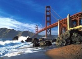 Tomax Golden Gate Bridge San Francisco USA 500 Piece Glow-in-the-dark Jigsaw Puzzle (Best Family Activities In San Francisco)