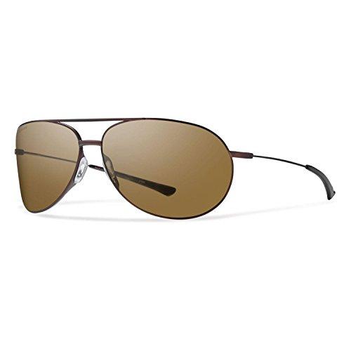 (Smith Optics Rockford Sunglasses, Matte Brown Frame, Polar Brown Carbonic TLT Lenses)