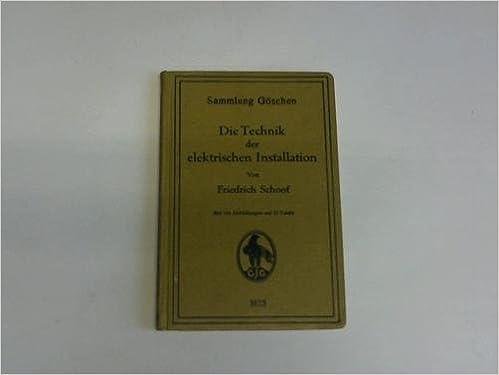 Amazon.com: Die Technik Der Elektrischen Installation (Sammlung G ...