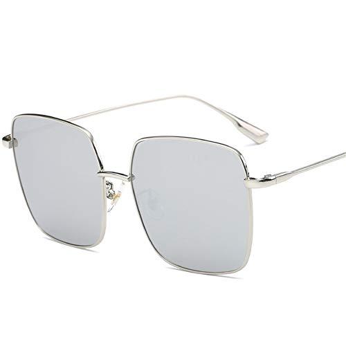 rectangulares marco sol gafas Gafas C las caja de la del cuadradas NIFG del metal grande de de w4fqR