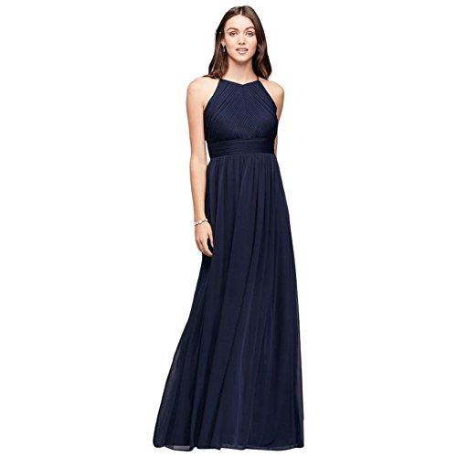5f800aa0b3b Micro-Pleated Mesh Halter Bridesmaid Dress Style 644595I