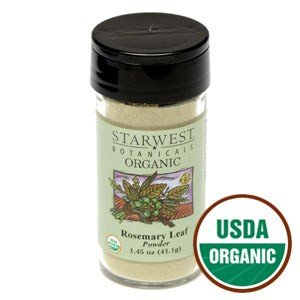 Organic Rosemary Leaf Powder Jar 1.45 Oz - Starwest Botanicals