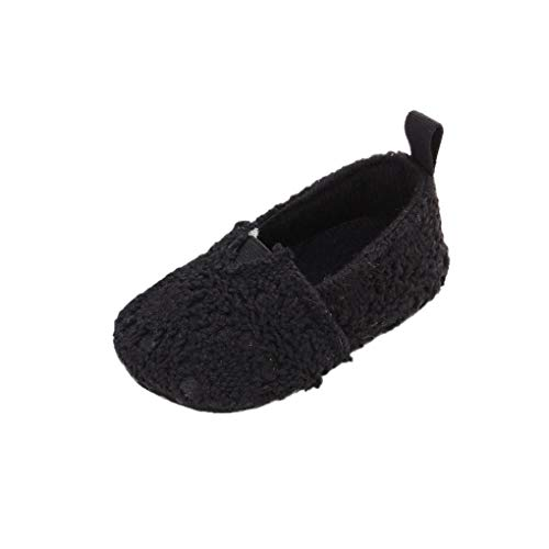 Baby Girl Shoes Miuye Baby Infant Kids Girl Soft Sole Crib Toddler Newborn Shoes Toddler/Little Kid Black