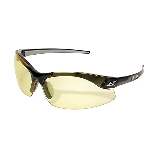 Edge Eyewear DZ112 Zorge Safety Glasses, Black with Yellow Lens