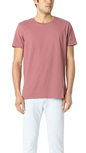Scotch & Soda Men's Uneven Hem Clean Tee, Rock Rose, Medium