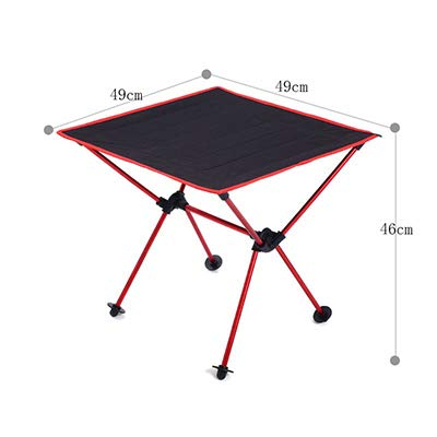 Outdoor Fishing Folding Camping Table with 600D Oxford Fabric 7075 Aluminum Alloy Desk for Garden Camping Beach Travelling Table SC23800RE