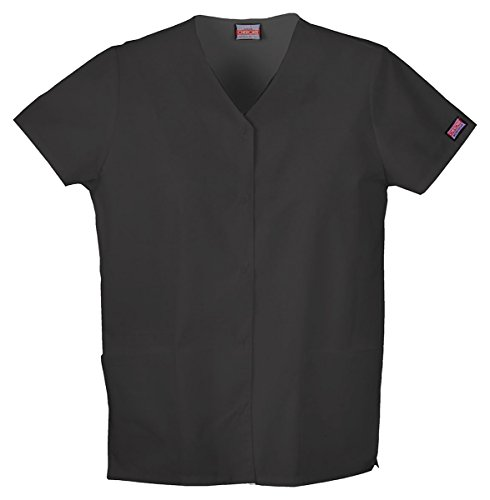 Cherokee Workwear Women's Snap Front V-Neck (Ladies Fitted Snap)