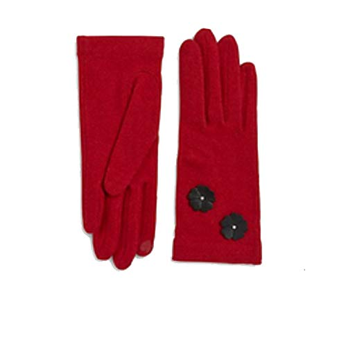 Portolano Cashmere Blend Tech Gloves Red (Portolano Womens Cashmere)