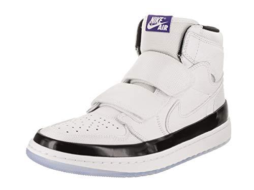 Jordan Nike Men's Air 1 RE Hi Double STRP White/Dark Concord/Black Basketball Shoe 8 Men - 1 Air White Jordan Mens
