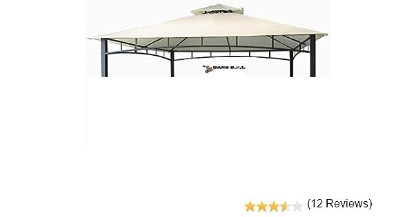 Bars Easyshop - Lona de Cobertura de 220 g para cenador de jardín, 3 x 3 m, Color Crudo con Techo para Chimenea, Cortavientos, Lona Impermeable y antilluvia de PVC: Amazon.es: Jardín