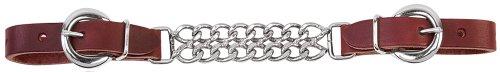 Weaver Leather Latigo Leather Double Flat Link Chain Curb Strap
