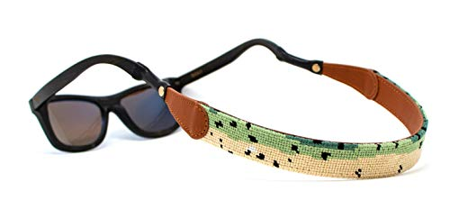 - Hand-Stitched Needlepoint Sunglass Strap Retainer by Huck Venture (Trout)