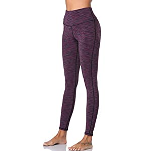 Women Yoga Pants Workout Running Leggings Purple L