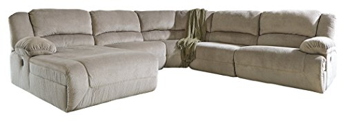 (Ashley Furniture Signature Design - Toletta 5-Piece Sectional - Right Arm Facing Power Recliner with Armless Chair & Recliner, Wedge & Left Power Chaise - Granite )